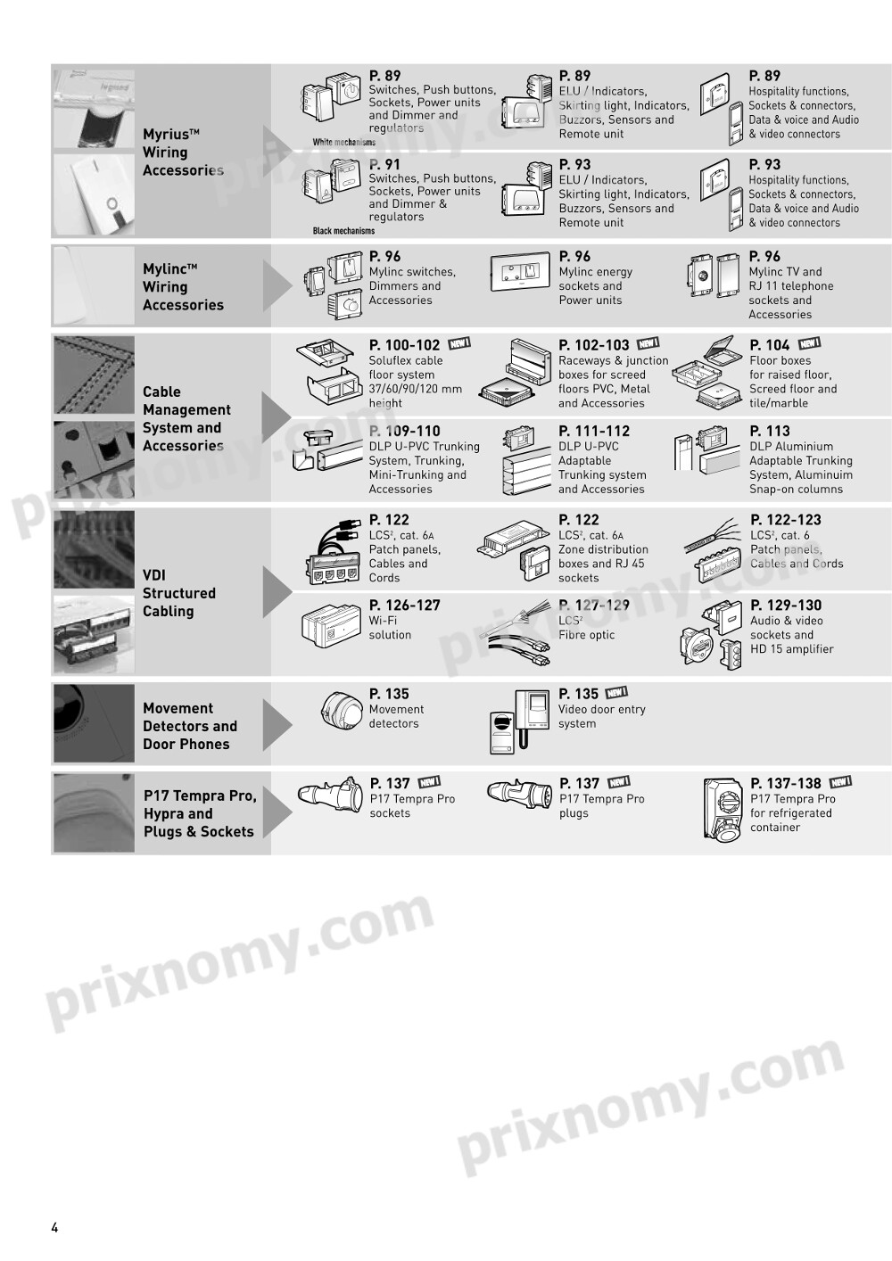 prixnomy legrand electrical price list 2016 4 prixnomy rh prixnomy com electrical house wiring accessories list Electrical Panel Wiring