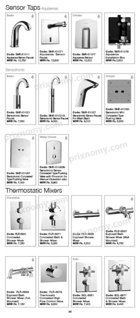 Jaquar Bathroom Partitions jaquar bathroom fittings price list