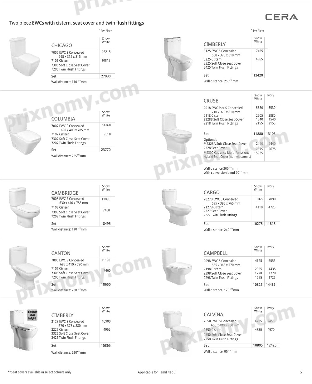 Cera bathroom fittings price list - Seat Cover And Twin Flush Fittings Supplier Two Piece Ewcs With Cistern Supplier Seat