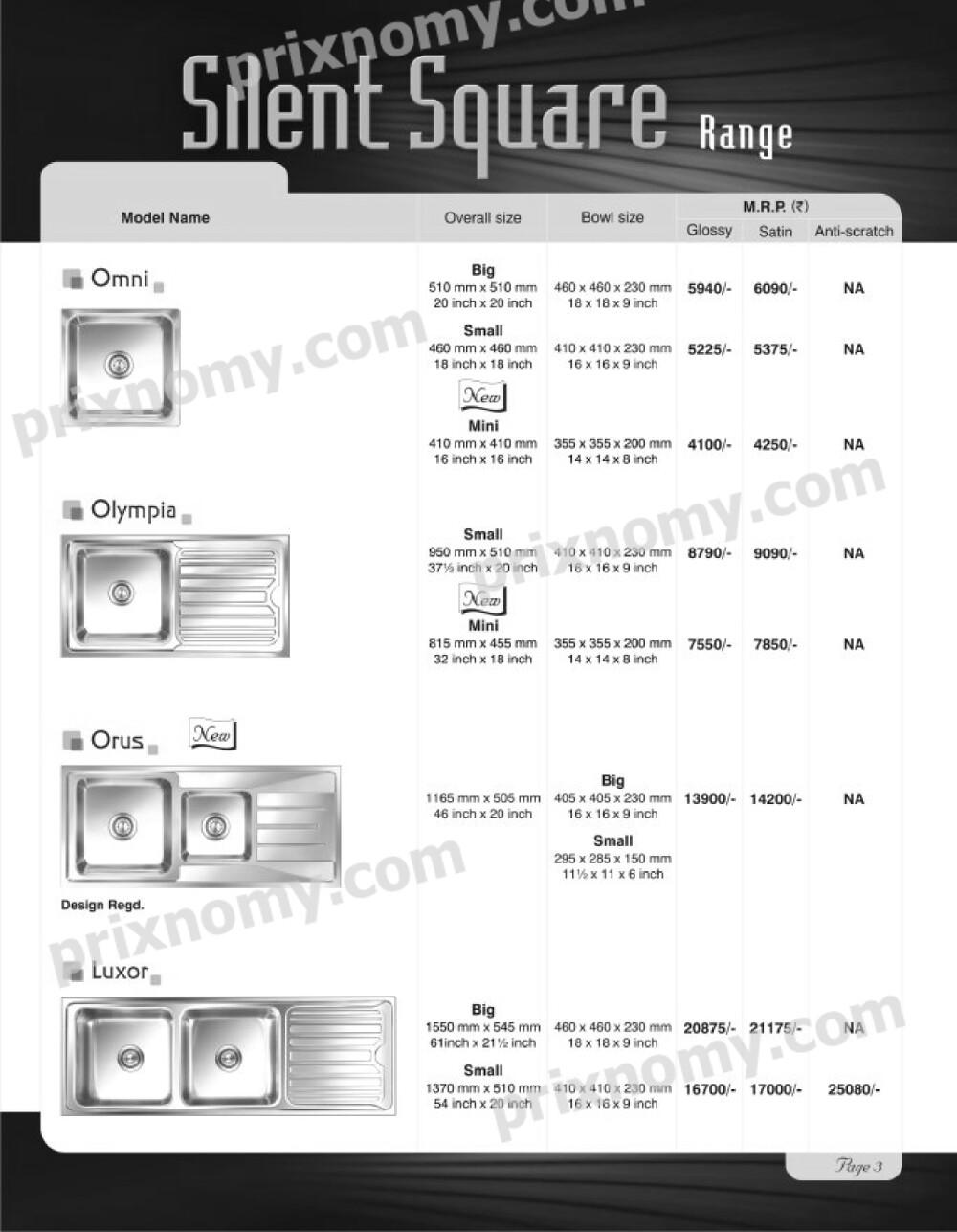 Nirali kitchen sinks price list 2014 prixnomy silent square range best prices silent square range supplier silent square range manufacturer workwithnaturefo